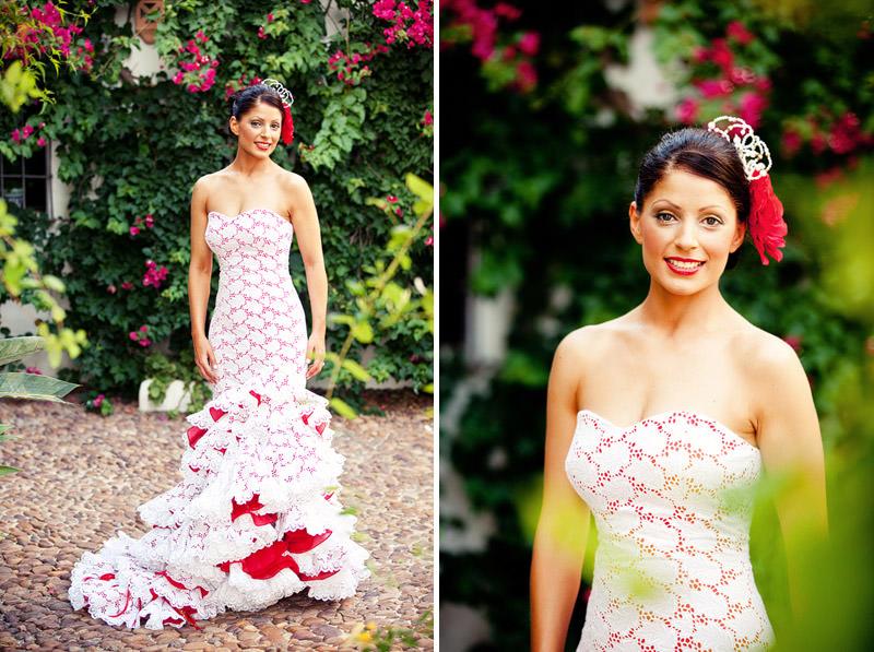 Spanish Flamenco Wedding Dress