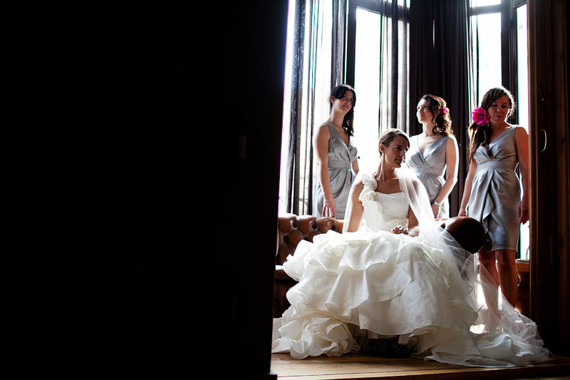 Wedding Portrait of Bride and Bridesmaids