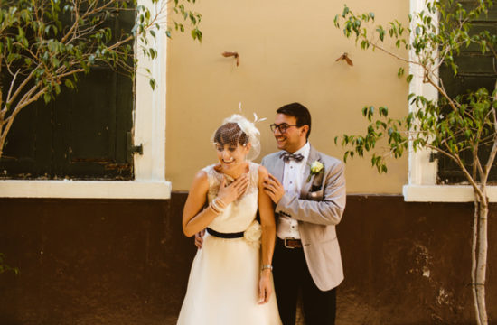Bride and groom in Gibraltar