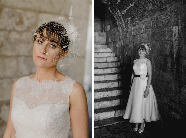 Bridal Portrait during gibraltar elopement