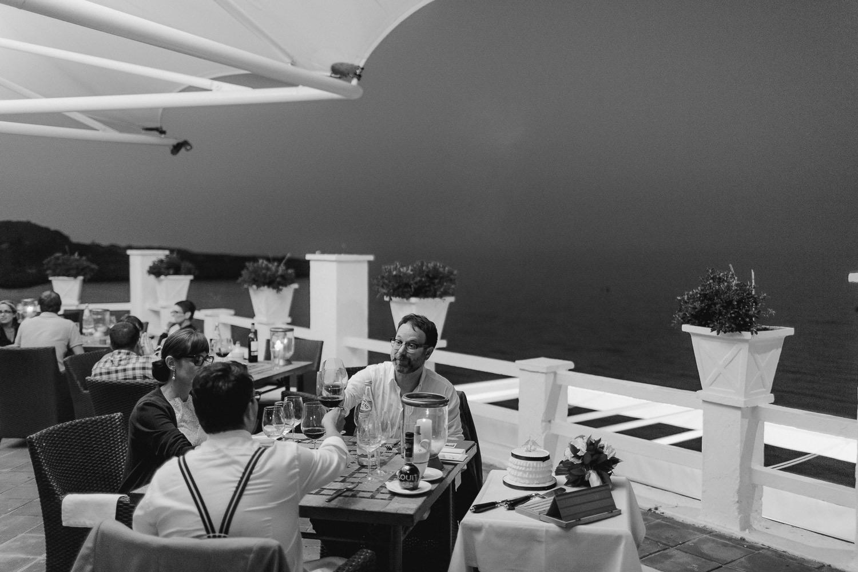 Wedding dinner at The Caleta Hotel Gibraltar