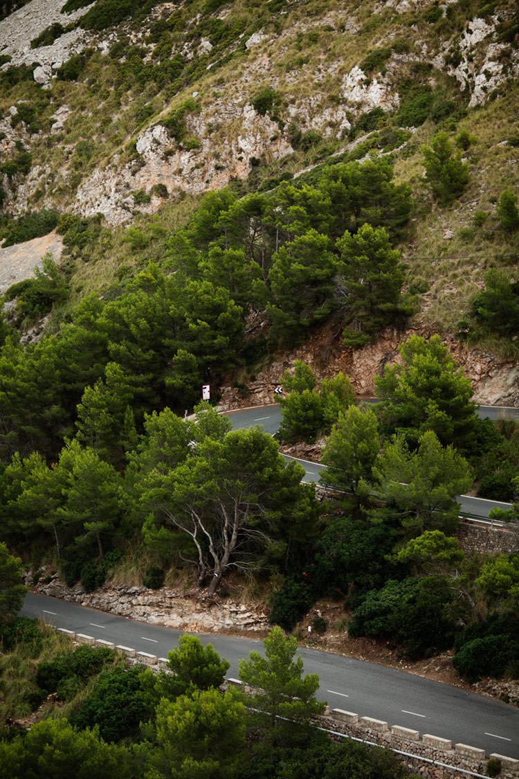 Windy road in Mallorca
