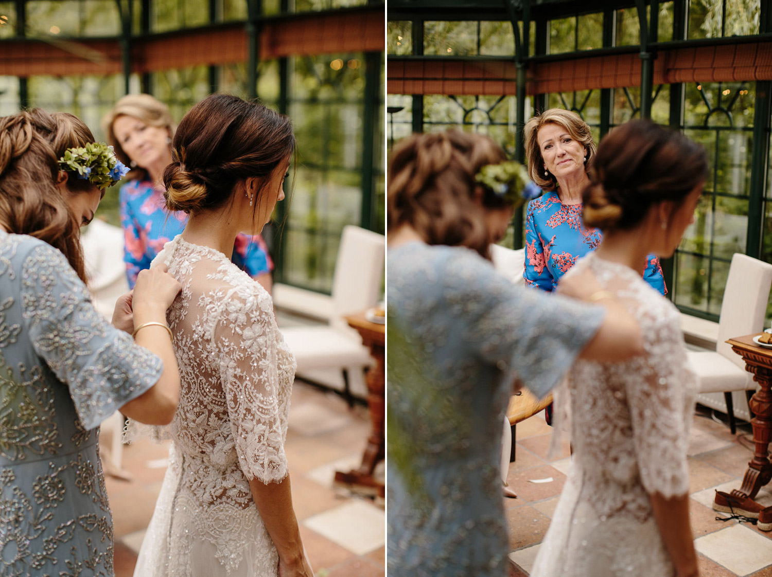 Bride getting ready at Kasteel Engelenburg Wedding