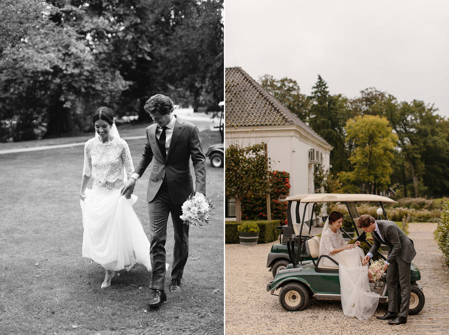 Happy Bride and Groom at Kasteel Engelenburg Wedding