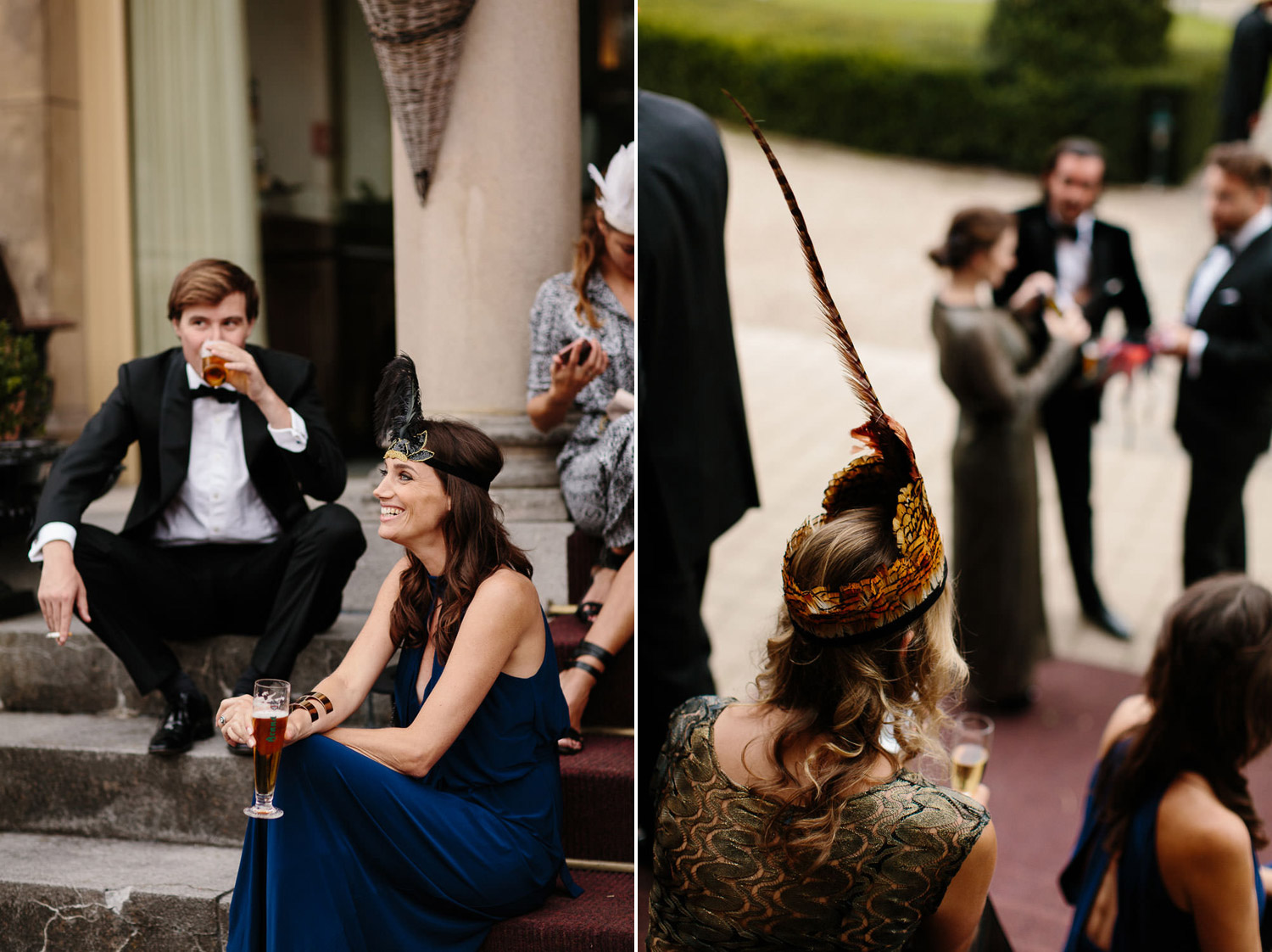 Elgant Guests at Kasteel Engelenburg Wedding