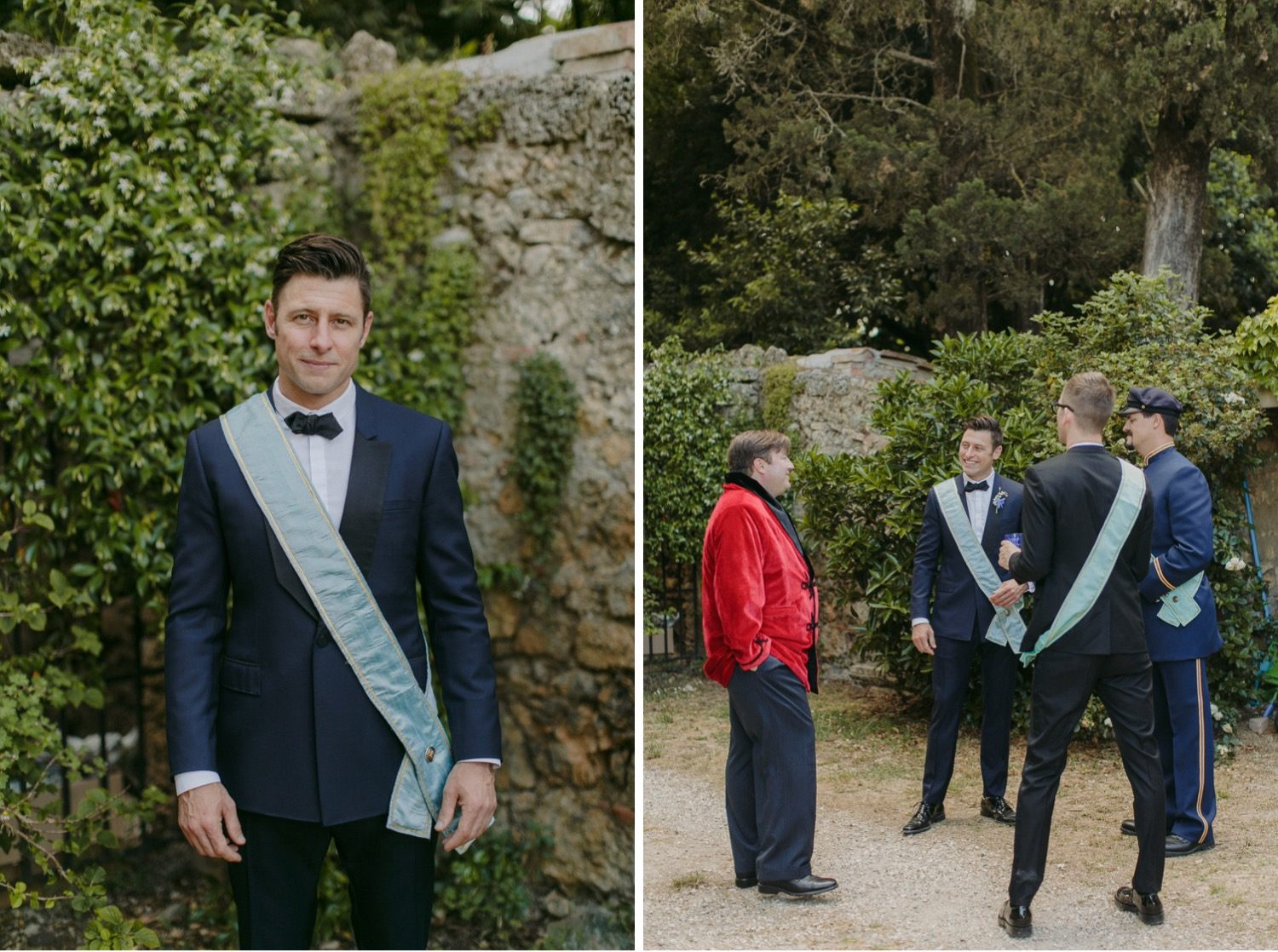 Portrait of the groom in Italy