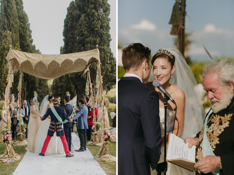 Rock Opera Wedding ceremony at Borgo Stomennano
